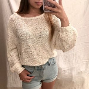 💫speckled oversized sweater